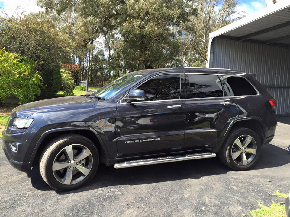 Automotive window tinting Jeep